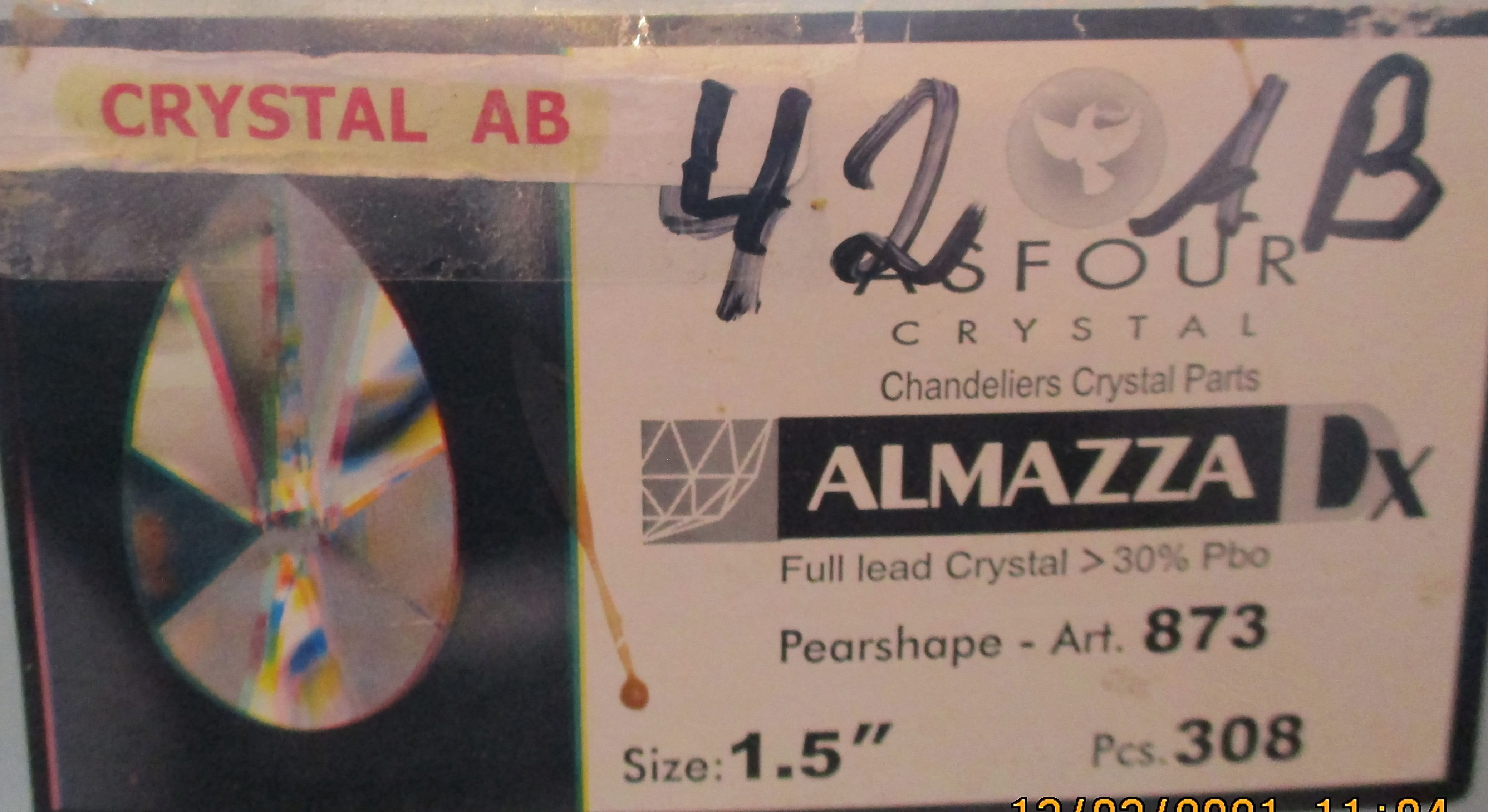 Asfour Crystal 873 - 42 AB bedampft